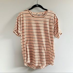 NWOT Madewell Neutral Striped Cotton Tee